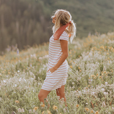 Alta Crimson Striped Dress