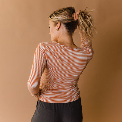 Copper Stripe Henley