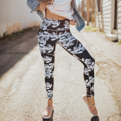 Santiago Slate High-Waisted Stride Leggings