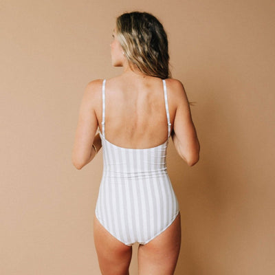 Ballerina One-Piece,  Sandy Stripe