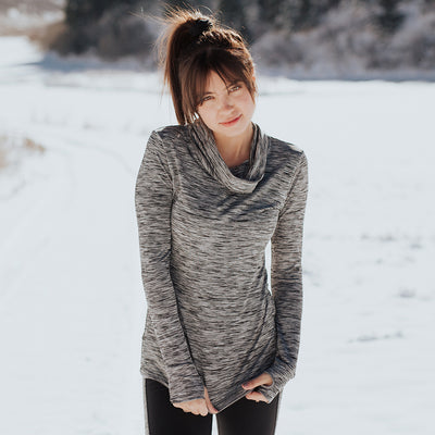 Pacesetter Cowl-Neck Top