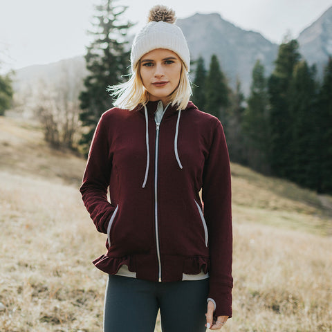 On the Go-Go Jacket, Wine - Albion - 1