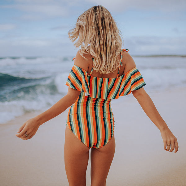 The Wave, Gigi Stripe One-Piece Swimsuit