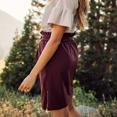 Wine Bow Skirt