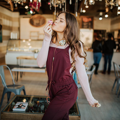 Wine Classic Overall Jumpsuit