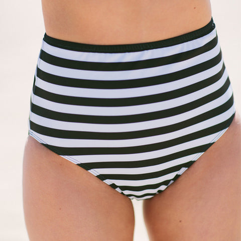 Stripies 101 High-Waisted Bikini Bottoms - Albion - 1