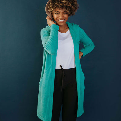 Destination Cardigan, Aqua