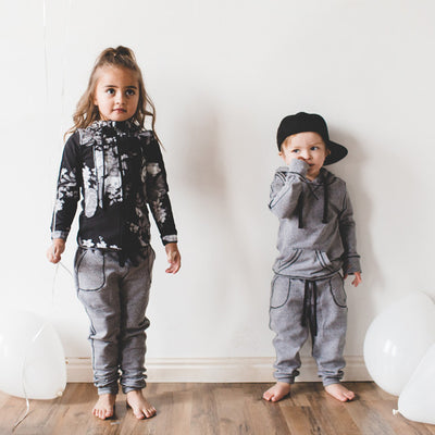 Mini At Ease Joggers, Heather Grey for kids