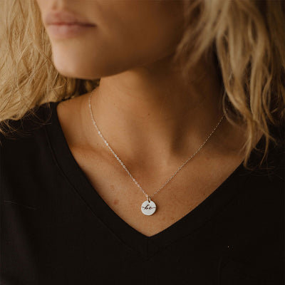 Littlefield Lane Be Disc Necklace