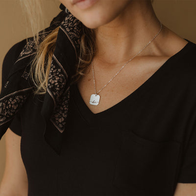 Littlefield Lane Square Be Necklace