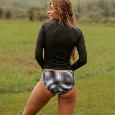Black Check Hipster Bottoms