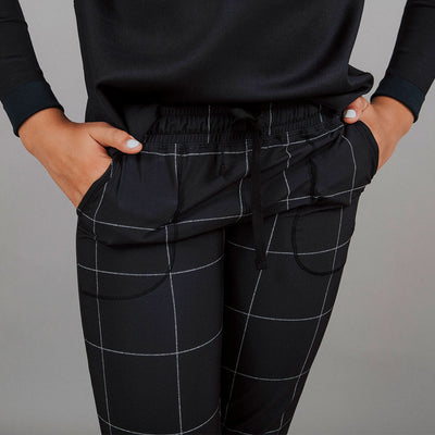 Mini Black Windowpane Jetsetters