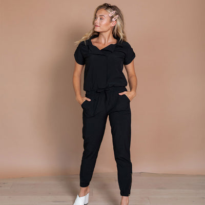 Black Collar Jumpsuit