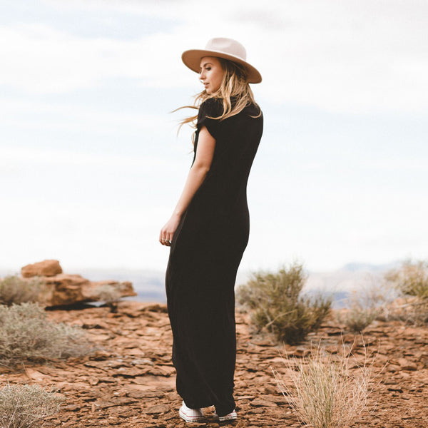 Black Maxi Dress - Albion - 4