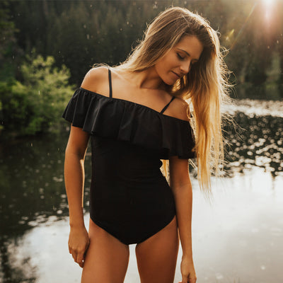 Albion The Wave, Midnight One-Piece Swimsuit