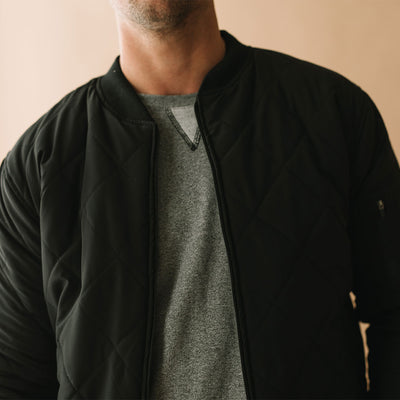 Men's Quilted Bomber