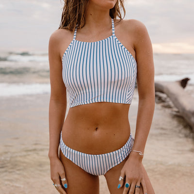 Breezy Stripe Switchback Crop
