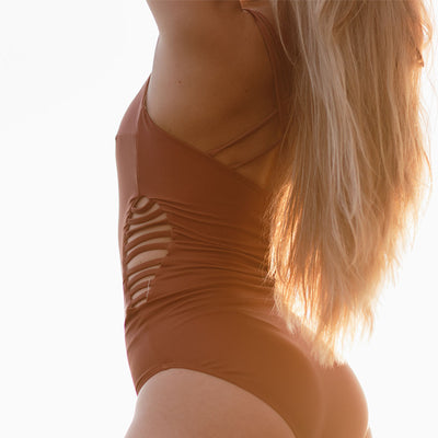 The Eden One-Piece Swimsuit, Burnt Orange