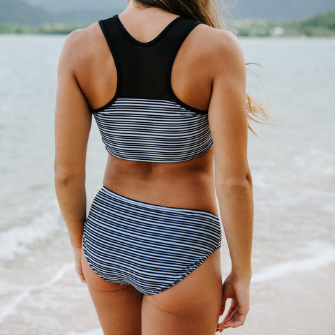 Maria Crop Top, Channel Stripe