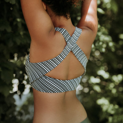 Channel Stripe Game Changer Swim Crop
