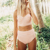 High Waisted Swimsuit in Peachy Keen