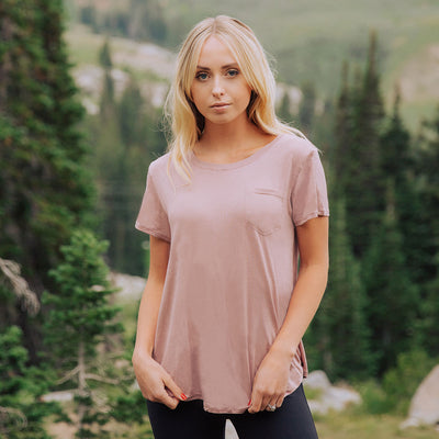 Albion Basic Tee, Rosewood