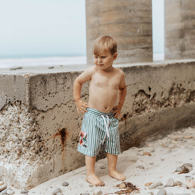 Darling Stripe Jr. Swim Trunks