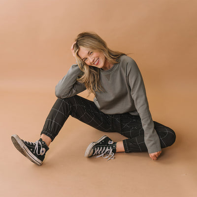 Graphite Neo Crop Sweatshirt