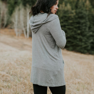 Sierra Heather Grey Cardigan - Albion - 3