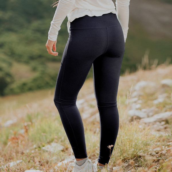 High-Waisted Indigo Leggings - Albion - 1