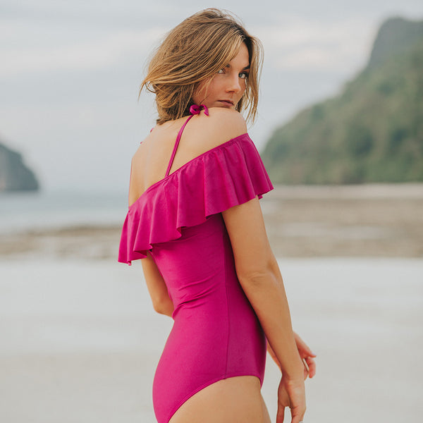 The Wave, Magenta One-Piece Swimsuit