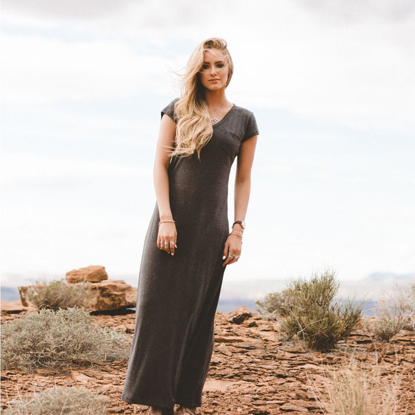 Charcoal Maxi Dress - Albion - 2
