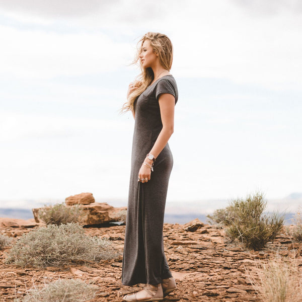 Charcoal Maxi Dress - Albion - 3