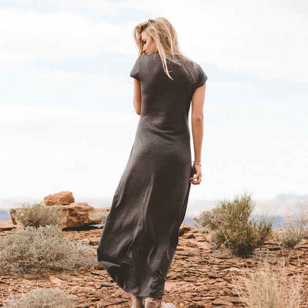 Charcoal Maxi Dress - Albion - 4