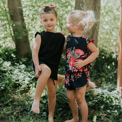 Kids Mini Black Romper
