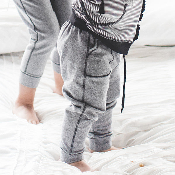 Mini At Ease Joggers, Heather Grey - Albion - 1