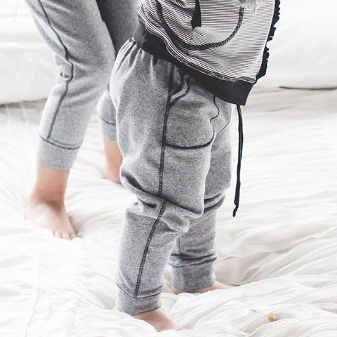 Albion Mini At Ease Joggers, Heather Grey