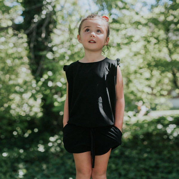 Mini Black Romper - Albion - 1