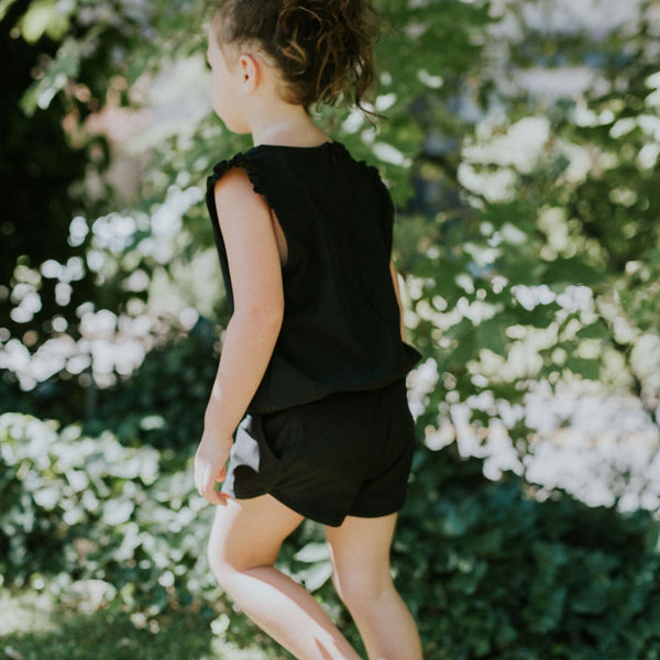 Mini Black Romper - Albion - 3