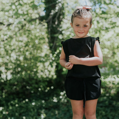 Mini Black Romper - Albion - 5