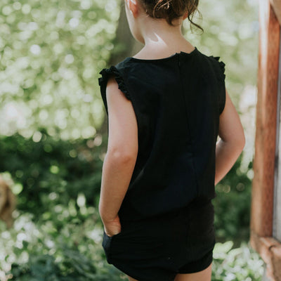 Mini Black Romper - Albion - 2