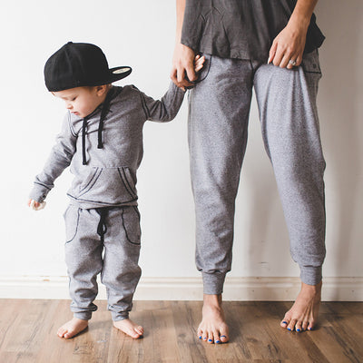 Mini At Ease Joggers, Heather Grey - Albion - 4