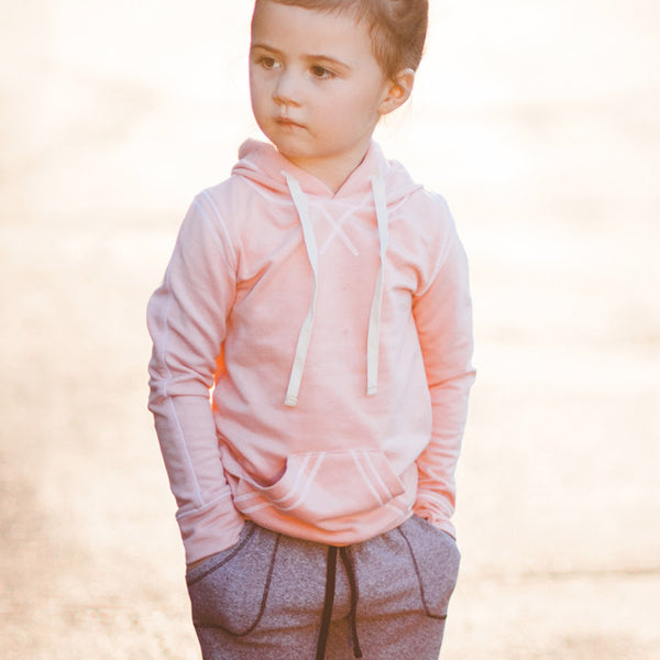 Mini Signature Hoodie, Ballet Pink - Albion - 2