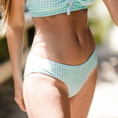 Mint Check Hipster Bottoms