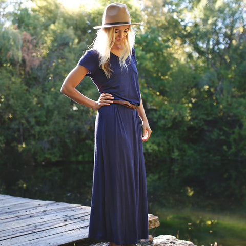 Navy Maxi Dress - Albion - 1