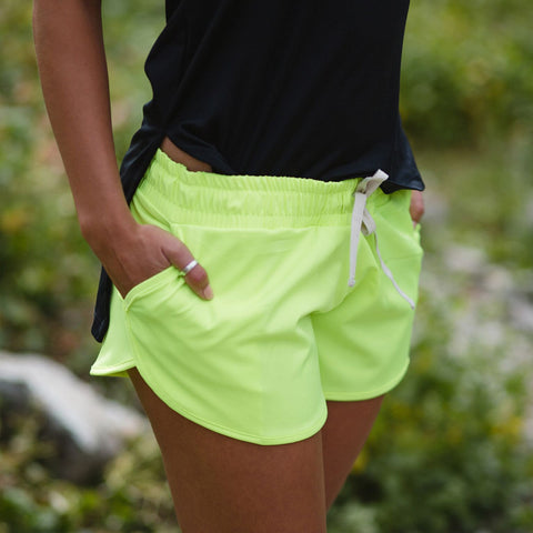 Electric Green Sprinter Shorts - Albion - 1
