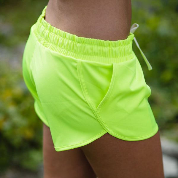 Electric Green Sprinter Shorts - Albion - 2