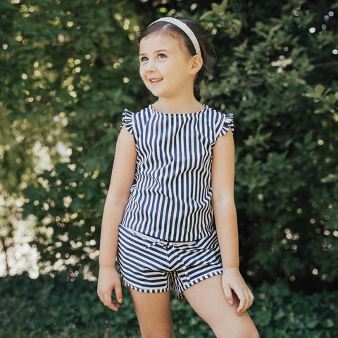 Mini Pana Stripe Romper