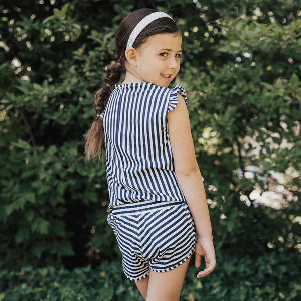 Girl's Pana Stripe Romper
