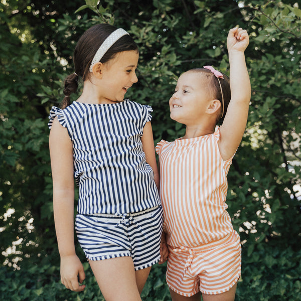 Albion Girls Mini Pana Stripe Romper